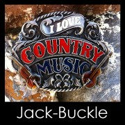 Buckle I Love Country Musik Gürtelschnalle
