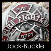 Gürtelschnalle (Buckle) Feuer Fighter Fire